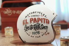 8negro: Papito MT Hand-Painted Helmet:: Brusco Artworks