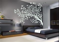 Wall Vinyl Sticker Decals Art Mural Tree branches THE Real SIZE IS 22''x35''  S7642. $29.99, via Etsy.