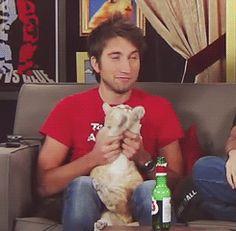 ♡ On Pinterest @ kitkatlovekesha ♡ ♡ Pin: Rooster Teeth ~ (GIF) Gavin & Joe The Cat ♡