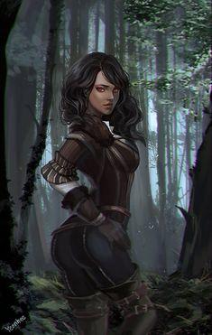 ArtStation - the witcher 3 yennefer , Kim YeonHee Witcher 3 Yennefer, Witcher Art, Yennefer Of Vengerberg, Fantasy Warrior, Fantasy Rpg, Fantasy Artwork, Dnd Characters, Fantasy Characters, Female Characters