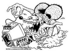 Rat Fink Coloring Pages Coloring Pages C Arts Crafts