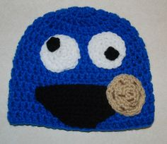 Crochet Creative Creations- Free Patterns & Instructions: Crochet Cookie Monster Hat