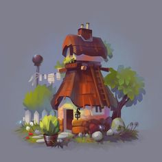 ArtStation - Cartoon houses, Josephine Sun