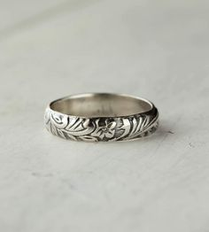 Art Deco Sterling Silver Band - I'd love a wedding band like this!
