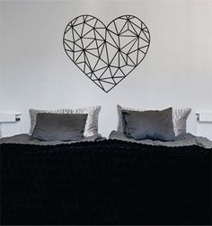 Geometric Heart Love Design Decal Sticker Wall Vinyl Decor Art