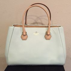Sale New Kate Spade Tote New with tags 100% authentic Kate Spade mint tote. Comes with dust bag. Feature 2 large compartments. 2 zipper pockets and 2 inside pockets. Comes with shopping bag! kate spade Bags Totes