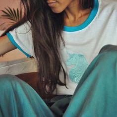 UNICORN•°☆ SALES   #unicorns #tee #embroidered #t-shirt #unicornlovers #handmade #limitededition Fantasy Island, Unicorn Shirt, Simple Shirts, You Are Beautiful, White Tees, Unicorns, Panda, Style Me, Spring Summer