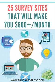25 survey sites to earn extra money online. Ways To Earn Money, Earn Money From Home, Earn Money Online, Money Saving Tips, Way To Make Money, Online Jobs, How To Make, Money Tips, Money Fast