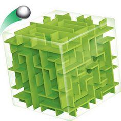 Laberinto Laberinto verde Cubo Mágico Puzzle 3D Mini Cubo de la Velocidad balanceo de la Bola Juguetes Juego de Puzzle Cubos Magicos Juguetes de Aprendizaje Para Chilren