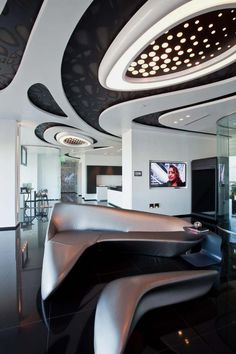 Artistic and Modern Interior Design for Sales Center by Zaha Hadid   Home, Building, Furniture and Interior Design Ideas
