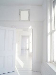 Corridor and white floor....
