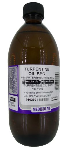 MEDICOLAB TURPENTINE OIL 500ML Household Products, Drink Bottles, Cleaning, Oil, Drinks, Drinking, Beverages, Drink, Beverage