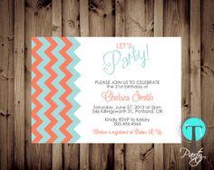 21st Party Invitation Dinner Party invitation by T3DesignsCo, $12.99 21st Birthday, Birthday Ideas, Dinner Party Invitations, 21st Party, Party Time, Rsvp