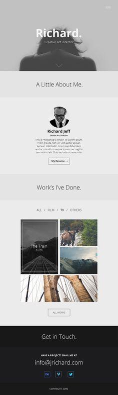 Minimal Portfolio Website PSD on Behance