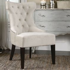 Buy Uttermost 23239 Arlette Tufted Wing Chair | | Riverbend Home