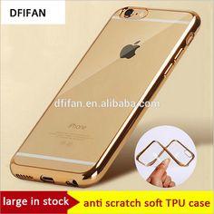 china manufacturer bulk buy phone case for iphone 6 electroplating case golden border transparent case for iphone 6s