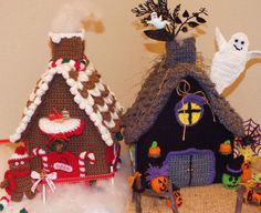 Christmas Gingerbread House©, Halloween Haunted House© & Little Girls Doll House Patterns© Three Great Patterns in One!! £3.27 GBP