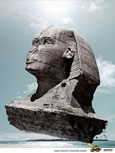 Komatsu wheel loader: Sphinx | Ads of the World™