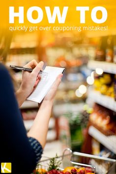 5 Ways to Recover from Couponing Mistakes