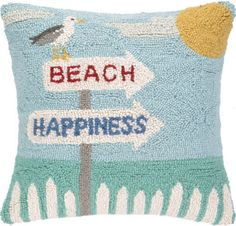 Everyone loves a beach house . Whether you live by the sea, vacation there, our just dream about the sea, this coastal pillow will bring you seaside.