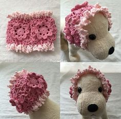 小型犬用 夏用スヌード(ピンク系)画像1 The Creator, Crochet Hats, Teddy Bear, Toys, Knitting Hats, Activity Toys, Clearance Toys, Teddy Bears, Gaming