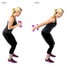 Triceps Kickback Make sure you keep your eyes forward and back straight as you move your arms! You'll really be able to feel the burn with this move. #fitness #workout #armworkouts #backworkouts #bodybuilding