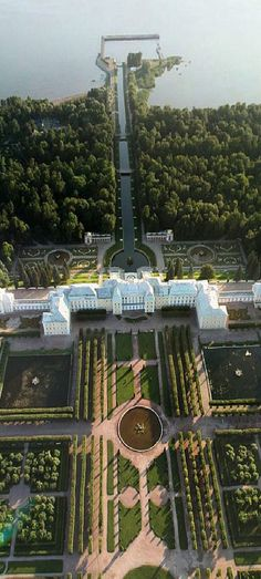 Royal Palace and park in Petergof, St.Petersburg, Russia #St.Petersburgrussia