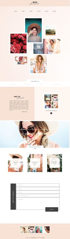 Showit 5 Premium & Free Photography Website Templates. Indian Summer by Foil and Ink, fun, fearless, creative website design