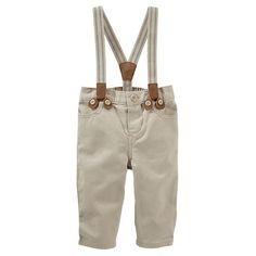 Baby Boy OshKosh B'gosh® Khaki Suspender Pants