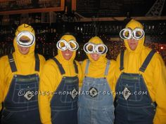 Funny Adult Minions Group Costume… Coolest Halloween Costume Contest