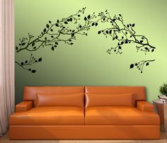 TWO BRANCHES with Berries Choose Any Color product by ParisDecals, $72.00