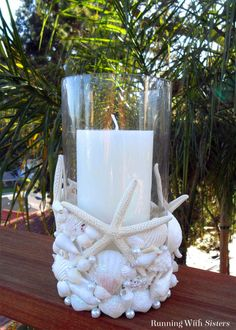 35 Adorable DIY Shell Projects for Beach Inspired Decor - Decoration Ideas . - 35 adorable DIY shell projects for beach inspired decor – decorating ideas 2018 35 adorable DIY s - Seashell Candles, Seashell Art, Seashell Crafts, Beach Crafts, Beeswax Candles, Starfish, Dollar Store Crafts, Crafts To Sell, Diy And Crafts