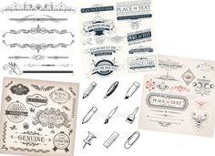 Pack arabesques/pictos vectoriels offerts par Istock Photo - La veilleuse graphique