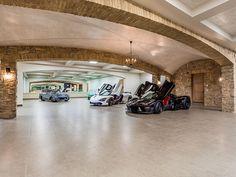 mansion mansion garage 393 W Stafford Rd, Thousand Oa Garages, Garage Design, House Design, Mansion Homes, Underground Garage, Ultimate Garage, Zillow Homes, Garage Interior, Dream Garage