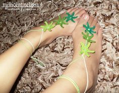 Crochet Barefoot Sandals in Starfishes