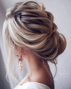 Loose & Romantic Wedding Hair from Tonystylist ~ such a pretty loose updo style
