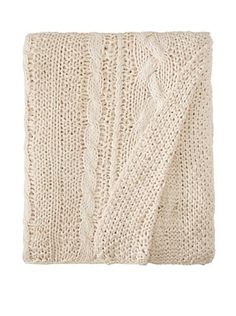 Amity Cable Knit Blanket