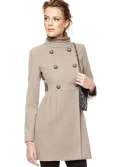 Splurge, but an amazing deal for all you BADGLEY MISCHKA LOVERS:  Double-Breasted Wool Coat with Leather Back @ Ideeli