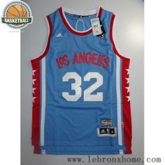 L.A. Clippers 32 Blake Griffin Retro Blue NBA Jersey 0cc2f6884
