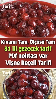 Turkish Recipes, Cheesecake, Deserts, Cherry, Food And Drink, Cooking Recipes, Turkish Delight, Beef, Canning