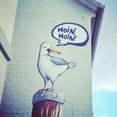 """""""Moin Moin!""""  sacht der fladderman zu cäptn clepto"""