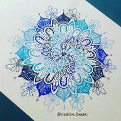 tumblr, girl, mandala, hipster, blue