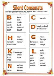 silent letters - Google Search