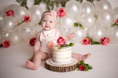 Baby Pictures Theme Children Books 68 Ideas For 2019 1st Birthday Photoshoot, 1st Birthday Party For Girls, 1st Birthday Cake Smash, First Birthday Decorations, Girl Birthday Themes, Baby First Birthday, Birthday Girl Pictures, First Birthday Photos, Baby Pictures