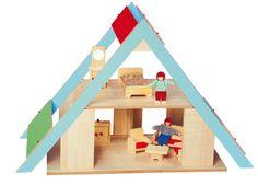 Casa de bonecas em madeira. ClassicToys