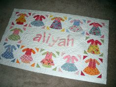 Dolly Dresses Baby Quilt Tutorial   Jaybird Quilts