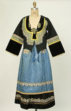 Ensemble Date: 1900–1964 Culture: French (Breton) Medium: wool, silk