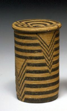 ...Africa | Lidded basket collected from the Waziba or Haya people of Tanzania