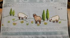 This post was discovered by sı Cross Stitch House, Cross Stitch Kitchen, Cross Stitch Designs, Cross Stitch Patterns, Snitches Get Stitches, Hand Stitching, Sheep, Needlework, Diy And Crafts