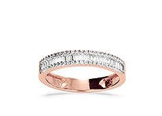 Rose gold diamond ring Alita is a extraordinary eternity ring #Yorxs #Diamantring #Roségold